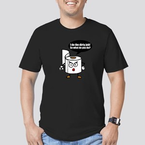 Dirty job Men's Fitted T-Shirt (dark)