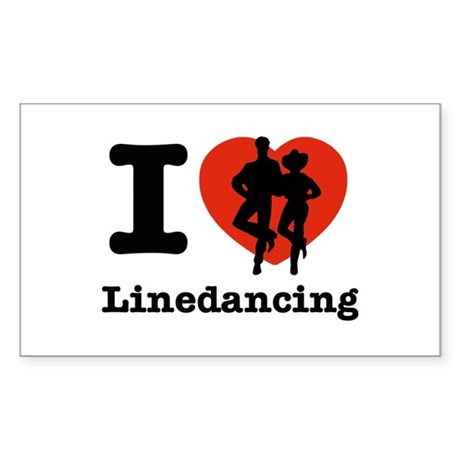 I love line dancing Sticker (Rectangle)