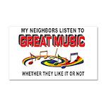 MUSIC Car Magnet 20 x 12