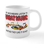MUSIC 20 oz Ceramic Mega Mug