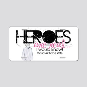 Heroes Aluminum License Plate