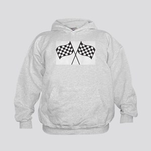 Checkered Flags Kids Hoodie