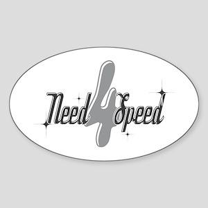 Need 4 Speed Oval Sticker