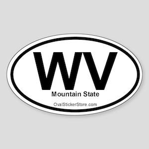 West Virginia Oval Sticker