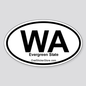 Washington Oval Sticker