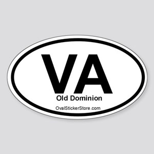 Virginia Oval Sticker