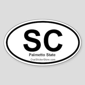 South Carolina Oval Sticker