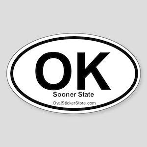 Oklahoma Oval Sticker
