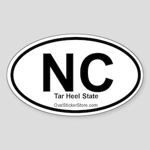 North Carolina Oval Sticker