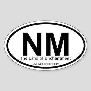 New Mexico Oval Sticker