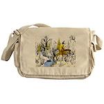 Native American Winter Warrior Messenger Bag
