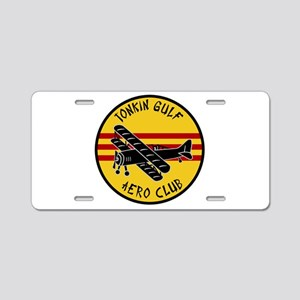 Tonkin Gulf Aero Club Aluminum License Plate