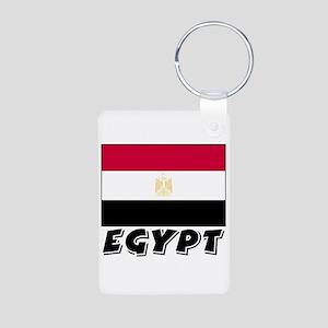 Egypt Flag (World) Aluminum Photo Keychain