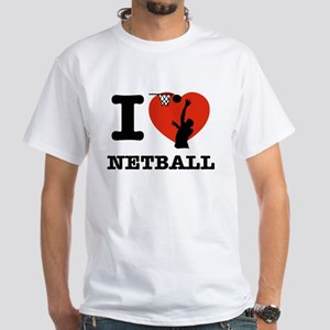 I love Netball White T-Shirt