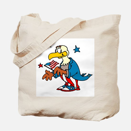 Patriotic Eagle with Flag Tote Bag
