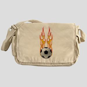 Soccer fire Messenger Bag