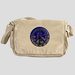 Peace marble Messenger Bag