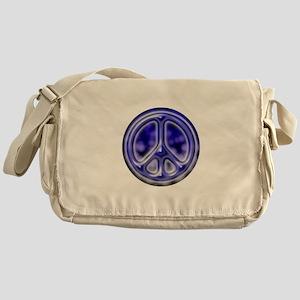 Blue faded cracked Messenger Bag
