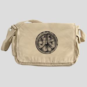 Black faded cracked Messenger Bag