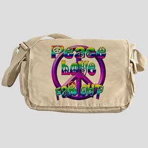 Peace, love, far out Messenger Bag
