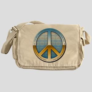 Circle of peace metal Messenger Bag