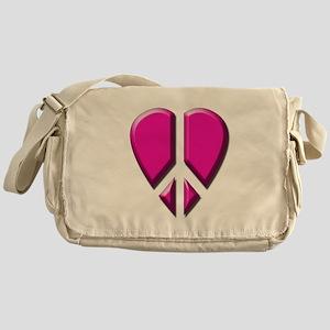 Peace heart Messenger Bag