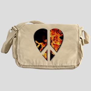 Fire peace heart Messenger Bag