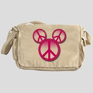 Peace love hope pink Messenger Bag
