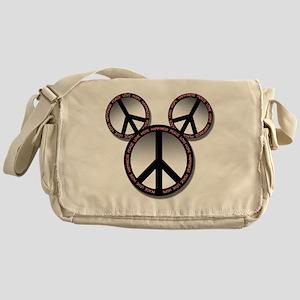 Peace love hope black Messenger Bag