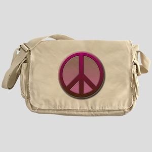 Pink peace Messenger Bag