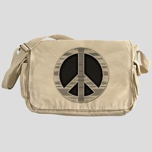 Sharp metal peace Messenger Bag