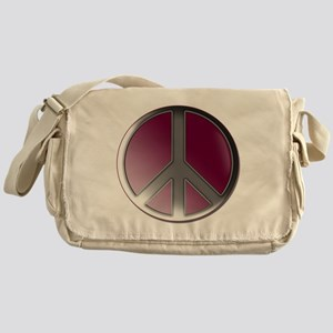 Peace bubble pink Messenger Bag