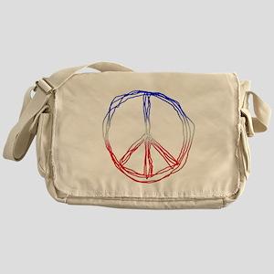 Scribble peace Messenger Bag