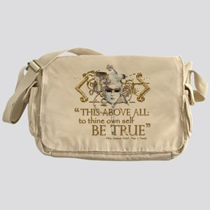 "Hamlet ""Be True"" Quote Messenger Bag"