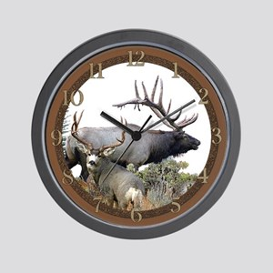 Elk and deer Wall Clock