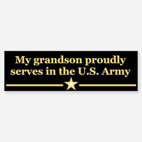 My grandson proudly serves bumper bumper stickers