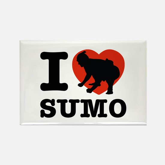 I love Sumo Rectangle Magnet