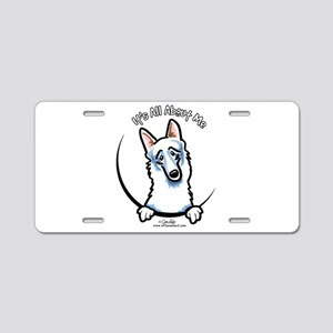 White German Shepherd IAAM Aluminum License Plate