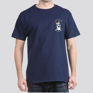 White GSD IAAM Pocket Dark T-Shirt
