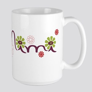Mimi With Flowers Large Mug