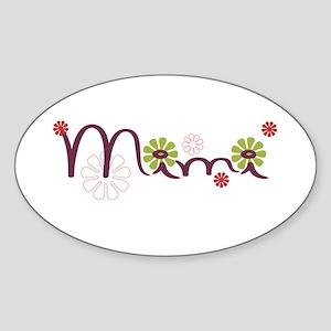Mimi With Flowers Sticker (Oval)