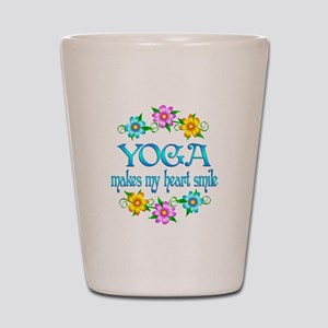 Yoga Smiles Shot Glass