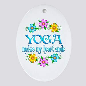Yoga Smiles Ornament (Oval)