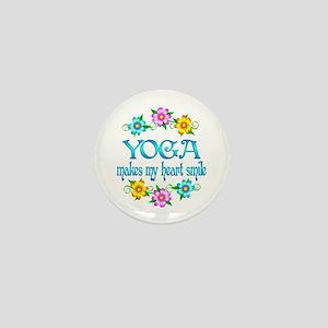 Yoga Smiles Mini Button