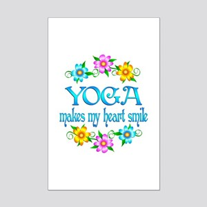 Yoga Smiles Mini Poster Print
