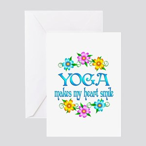 Yoga Smiles Greeting Card