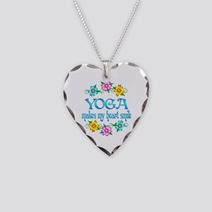 Yoga Smiles Necklace Heart Charm