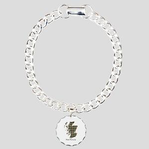 Map-MacKenzie htg brn Charm Bracelet, One Charm