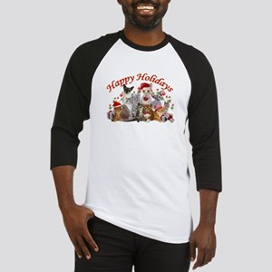 Happy Holiday Cat Designs Baseball Jersey