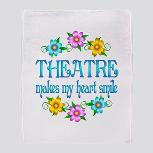 Theatre Smiles Throw Blanket